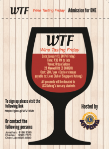 WTF - Wine Tasting Friday